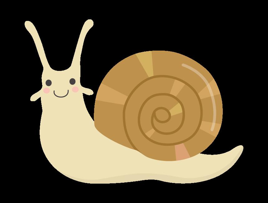 かわいいカタツムリのイラスト