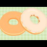 シュガードーナツとホワイトチョコのドーナツのイラスト