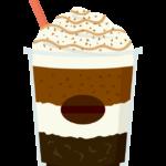 クリーム付きのコーヒー飲料のイラスト