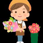 花屋さんの店員のイラスト