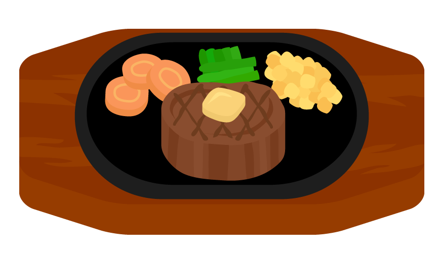 フィレステーキのイラスト