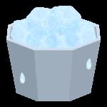 たくさんの氷のイラスト