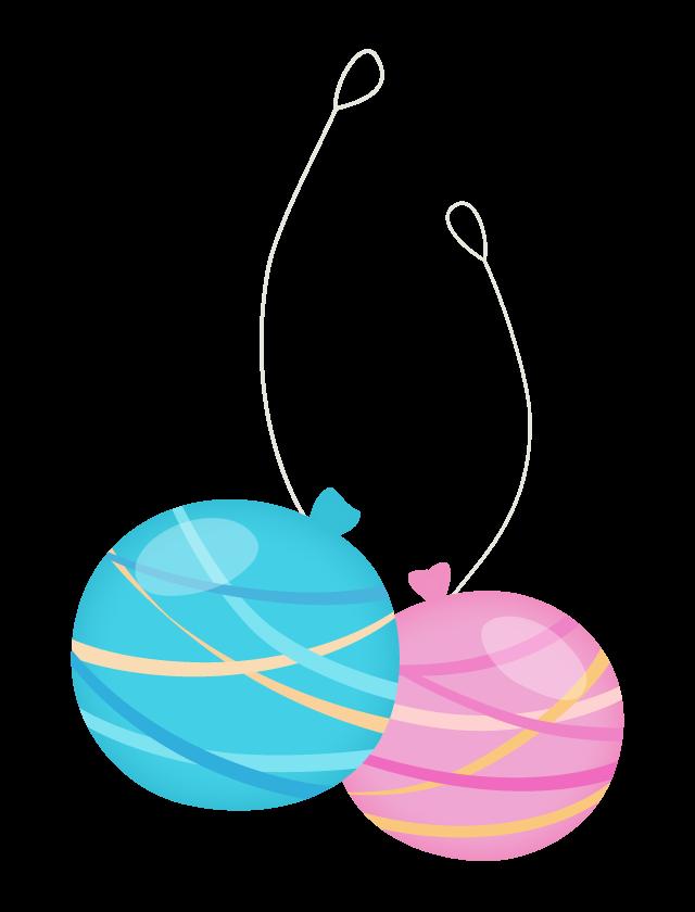 夏祭り水風船のイラスト 無料のフリー素材 イラストエイト