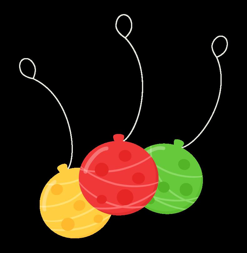 カラフルな水風船のイラスト