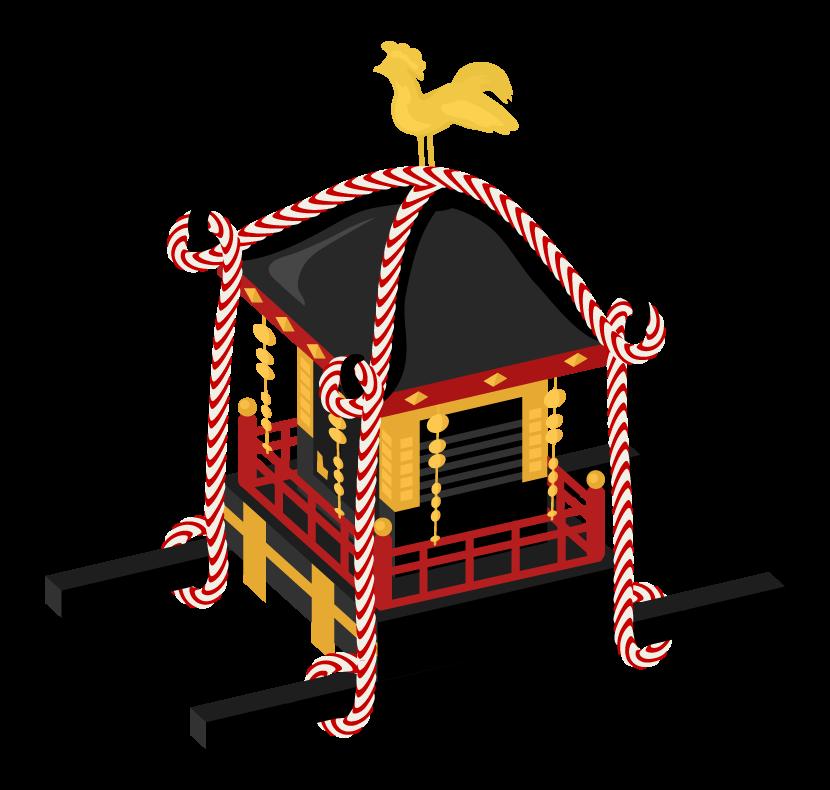 お祭りのお神輿のイラスト