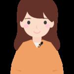 ピンマイク装着(女性)のイラスト