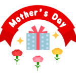 「Mother's Day」(母の日)の文字イラスト