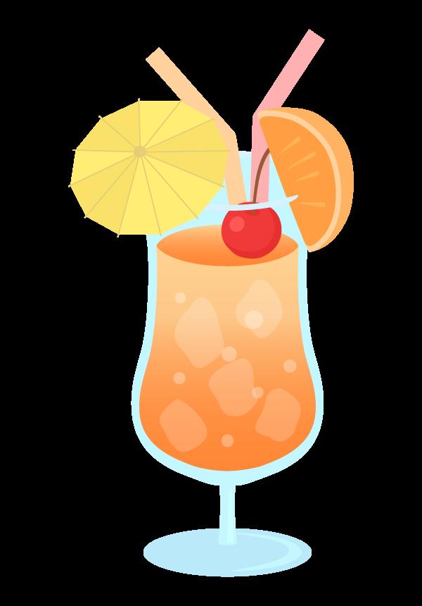 トロピカルジュースのイラスト