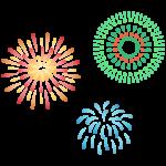 打ち上った大きな花火のイラスト