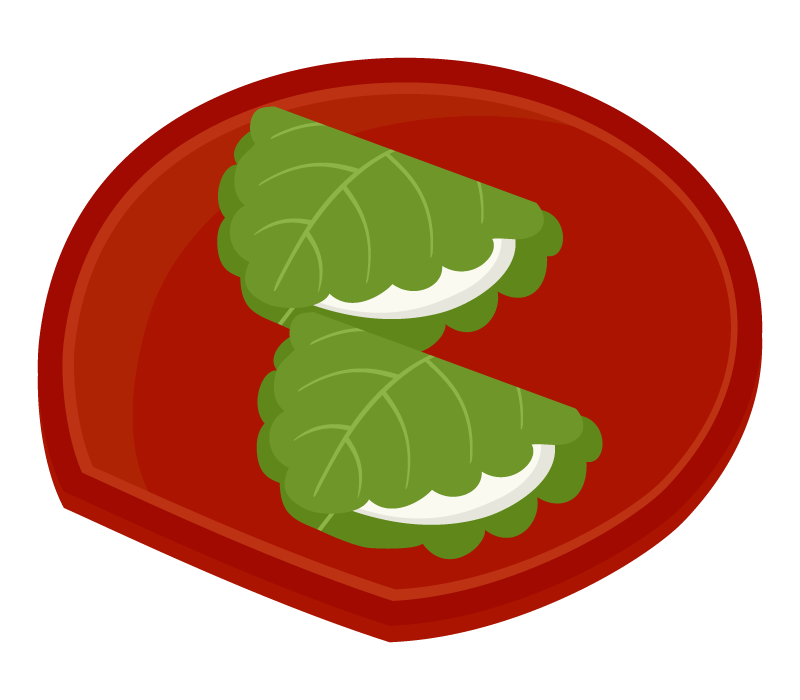 柏餅(かしわもち)のイラスト