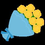 父の日・黄色いバラの花束のイラスト