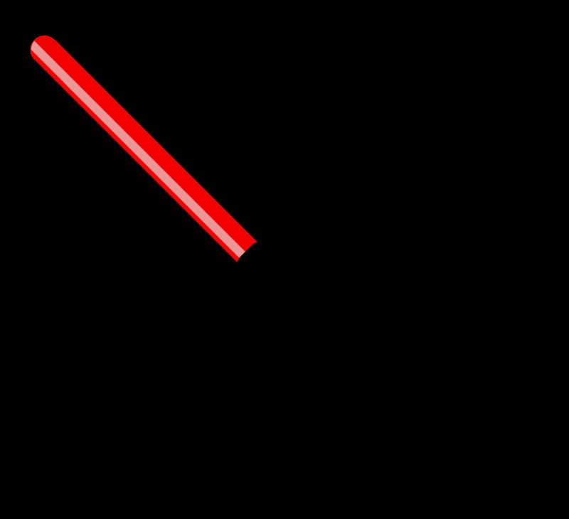 誘導灯(誘導棒)のイラスト