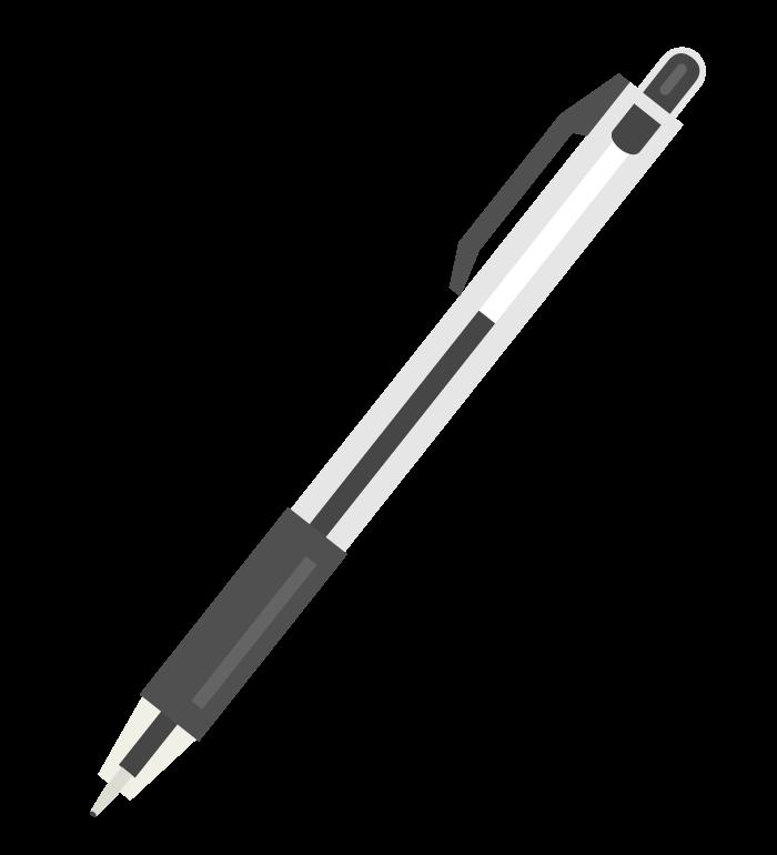 ボールペン(黒色)のイラスト