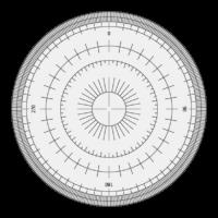 全円分度器のイラスト