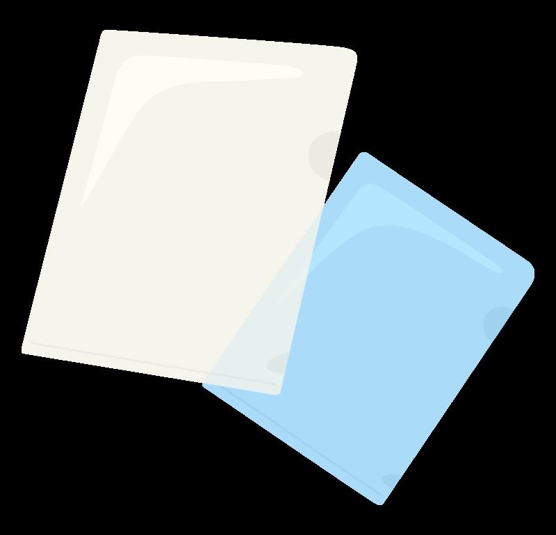 クリアーファイルのイラスト