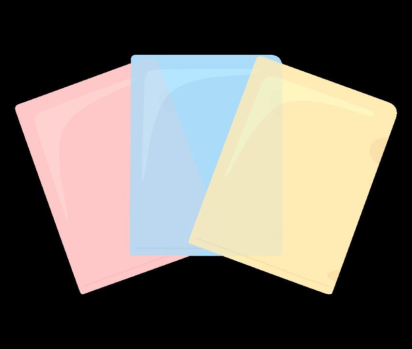 カラーのクリアーファイルのイラスト