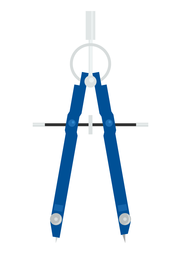 製図用コンパスのイラスト