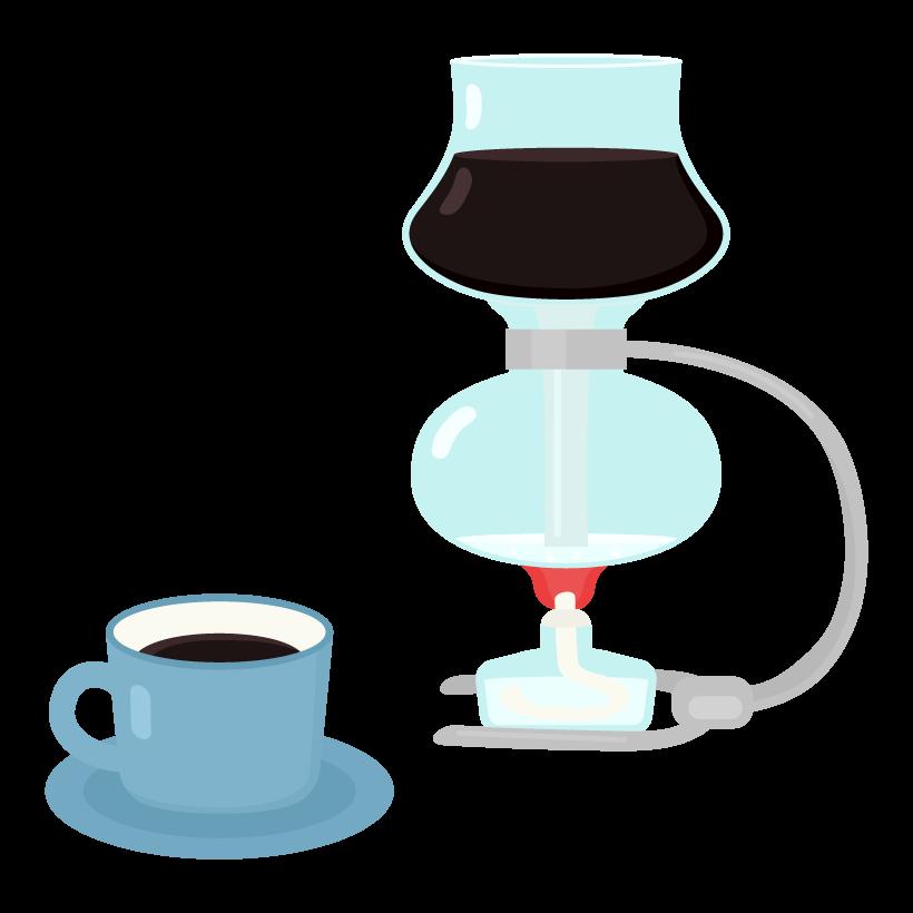 サイフォンコーヒーのイラスト