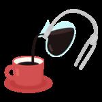 サイフォンコーヒーで煎れるコーヒーのイラスト