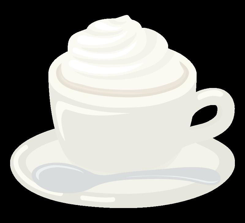 ウインナーコーヒーのイラスト