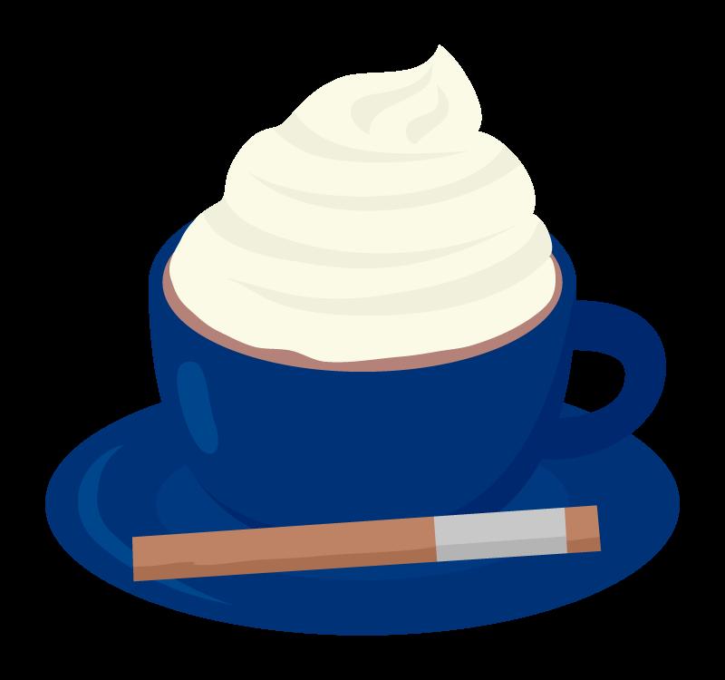 カフェ・ウインナーコーヒーのイラスト