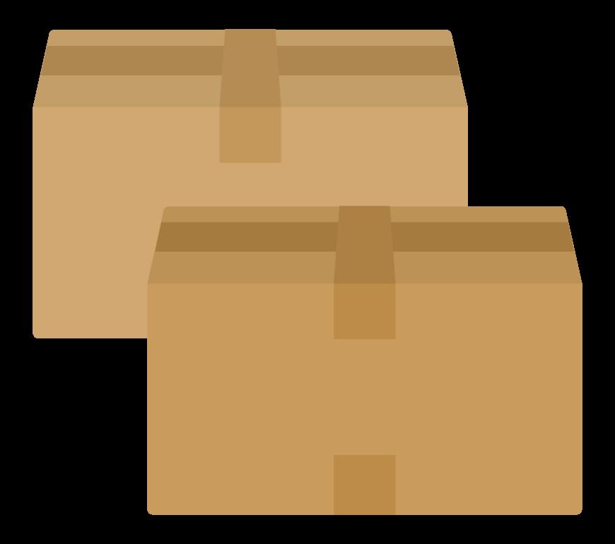 ダンボール箱(2箱)のイラスト