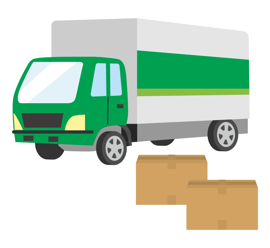 宅配・配達トラックのイラスト