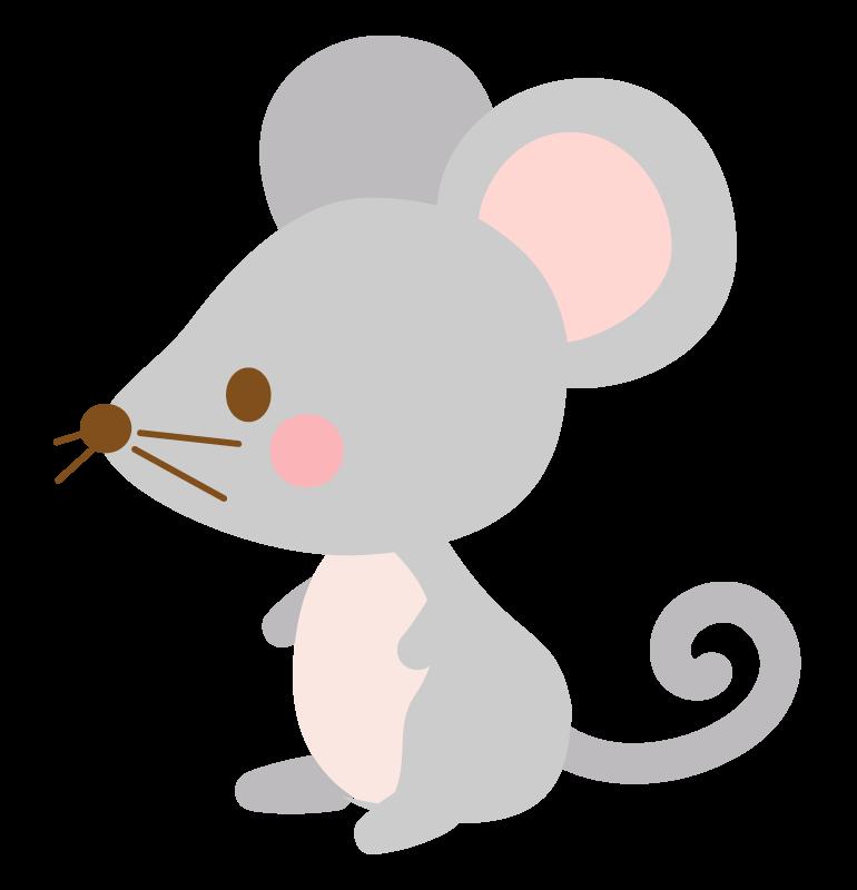 かわいいネズミのイラスト