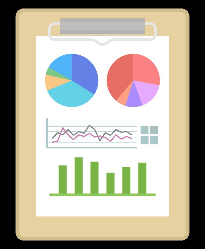 グラフレポート・資料のイラスト