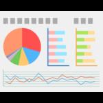 グラフレポート・統計のイラスト
