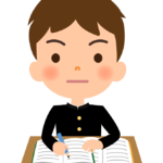 勉強をする学生のイラスト