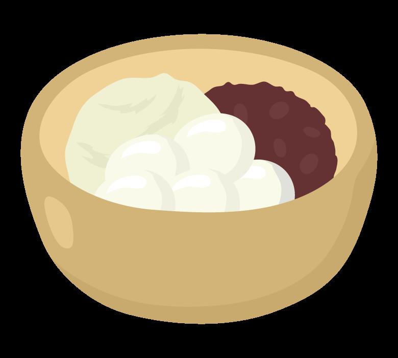 白玉あずき(アイス付き)のイラスト