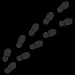 靴の足跡(白黒)のイラスト02