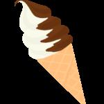 チョコのソフトクリームのイラスト