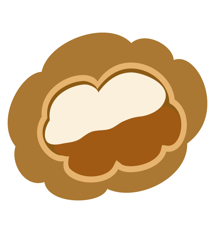 チョコレートのシュークームのイラスト