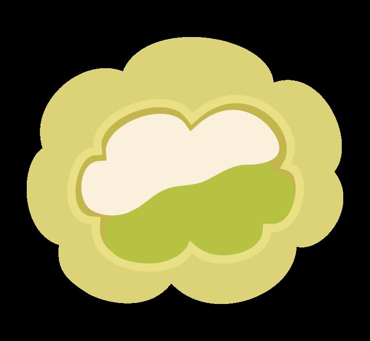 抹茶のシュークームのイラスト