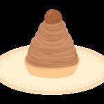 モンブラン(ケーキ)のイラスト