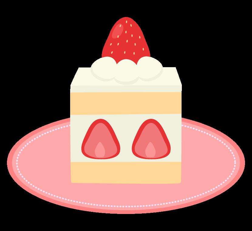 苺のショートケーキのイラスト