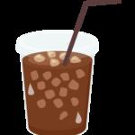 テイクアウトのアイスコーヒーのイラスト