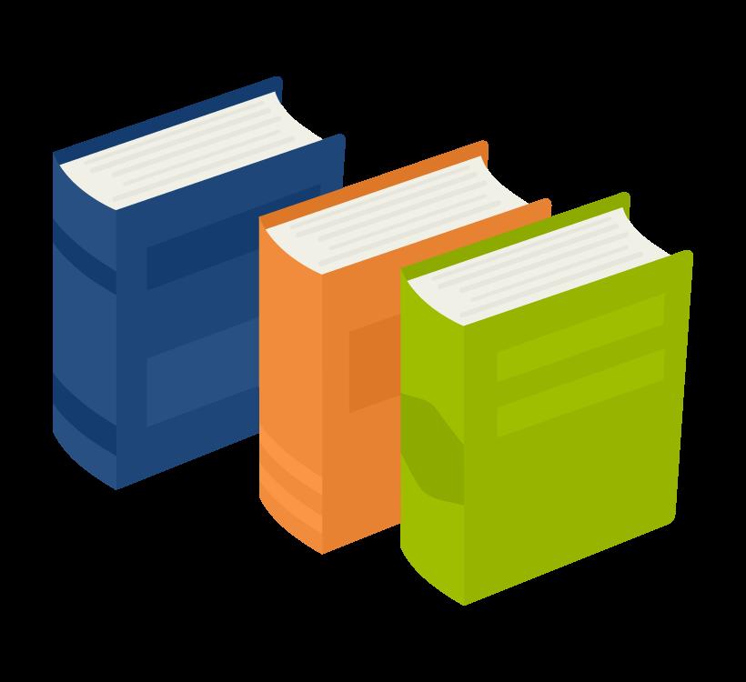 厚い本・辞書のイラスト