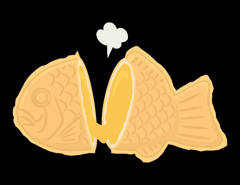 クリームのたい焼きのイラスト