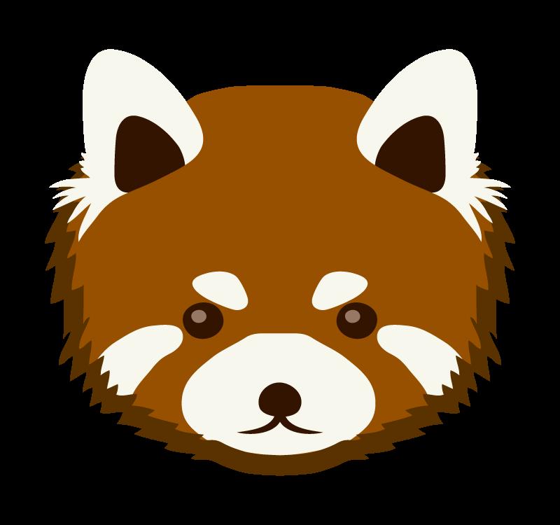 レッサーパンダ(顔)のイラスト