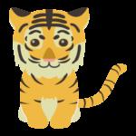 虎の赤ちゃんのイラスト