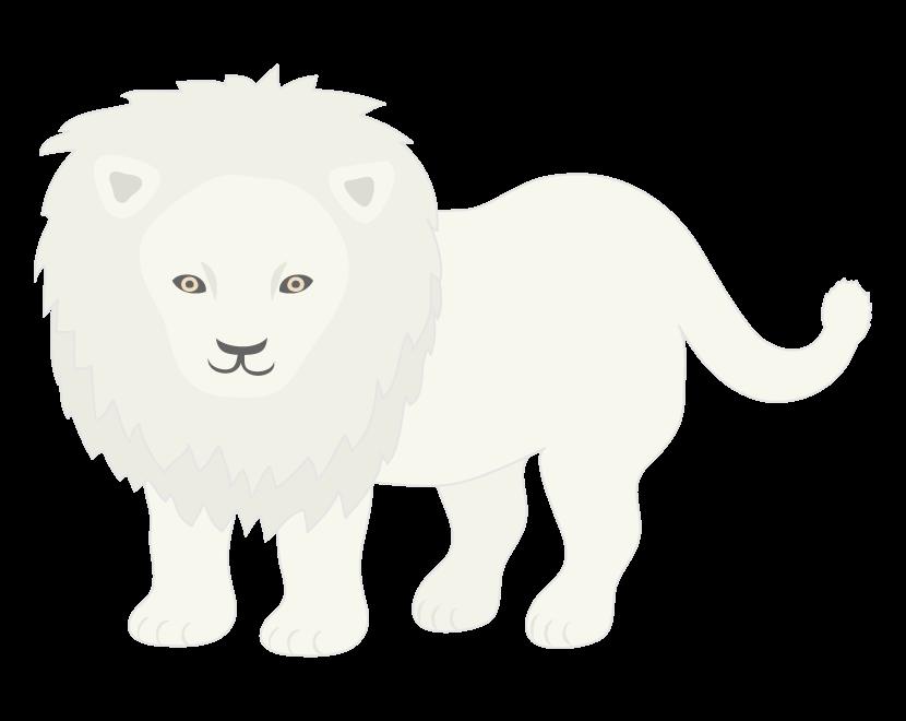 ホワイトライオンのイラスト