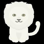 かわいいホワイトライオンのイラスト