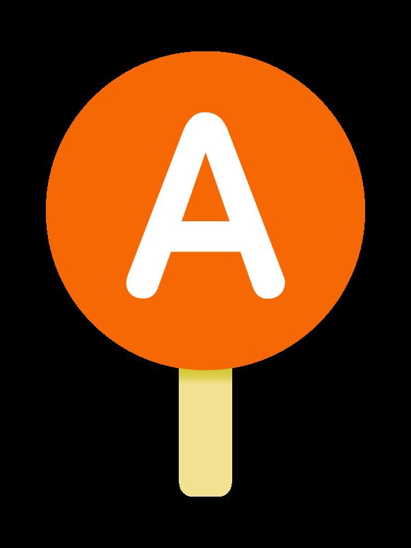 A型の血液型のイラスト