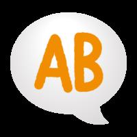 吹き出しとAB型(血液型)のイラスト