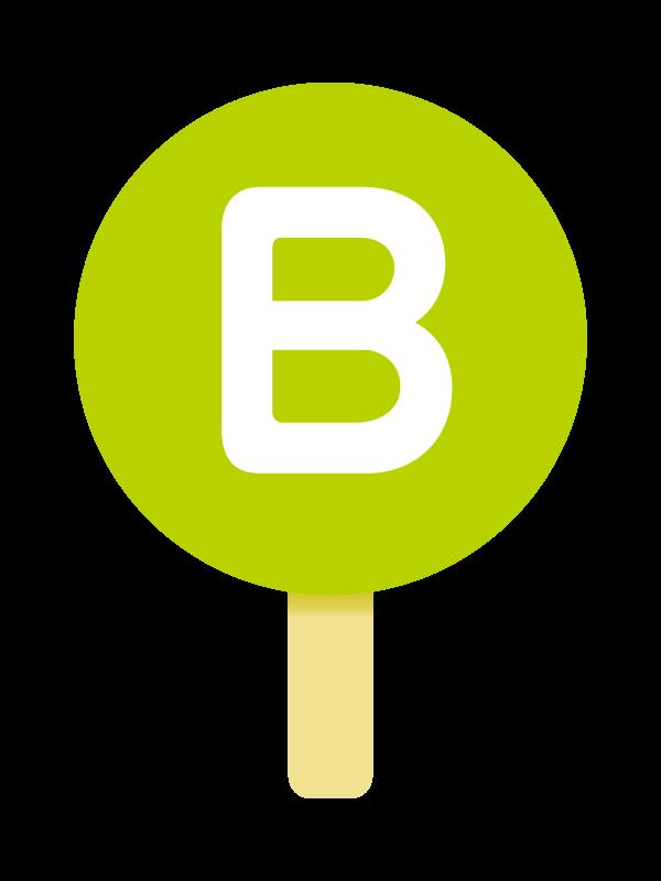 B型の血液型のイラスト