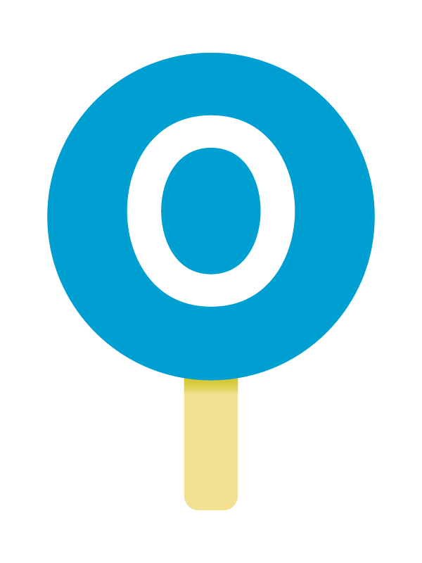 O型の血液型のイラスト