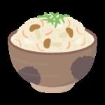 混ぜご飯(炊き込みご飯)のイラスト